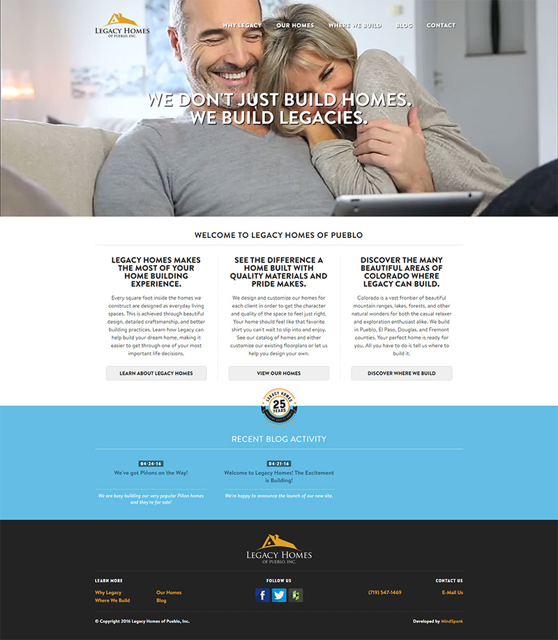 A Custom Home Builder Site That Keeps The Customer On At All Times